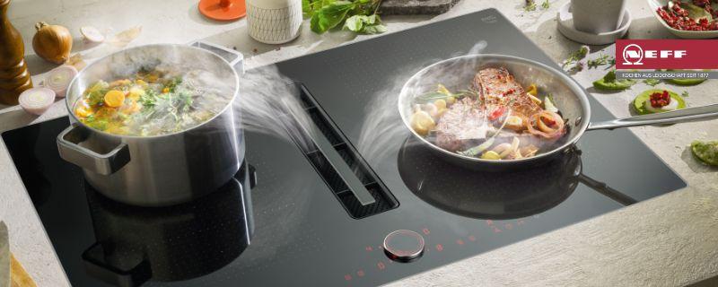 integrierter kochfeldabzug von neff der küchenladen küchen